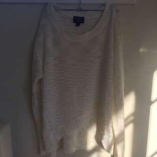 New!! SWEATER White