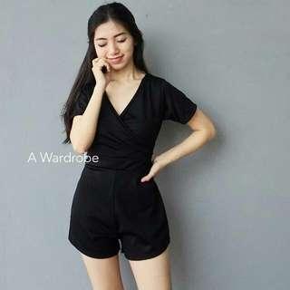 Black Jumpsuit Short Pants