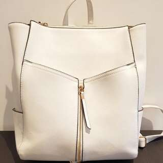 NEW LOOK white backpack