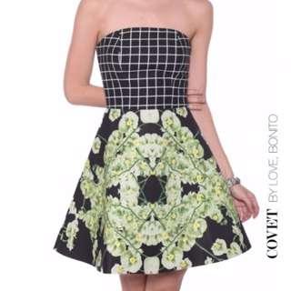 Love Bonito | Covet - Evanthia Grid Floral Dress (Size M)