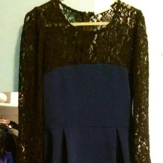 Cute Pleated Dress For Winter