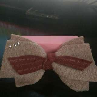 1:粉色蝴蝶結髮夾