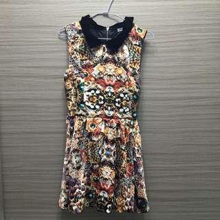 寶石💎無袖小洋裝  下擺包裙設計