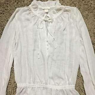 H & M white long sleeves
