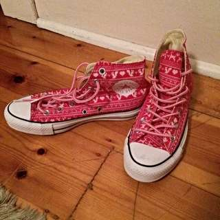 High Top Patterned Converse