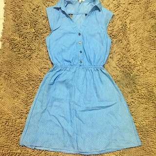 Charlotte Russe Blue polka dots dress