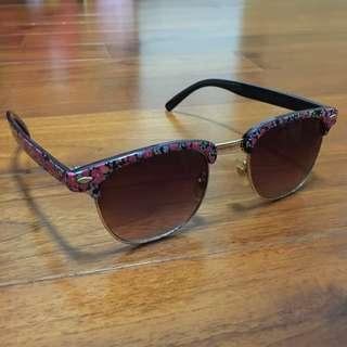英倫田園花卉太陽眼鏡