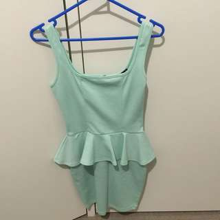 Mint Green Peplum Dress