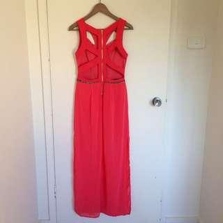 Cut-out Back Maxi Dress