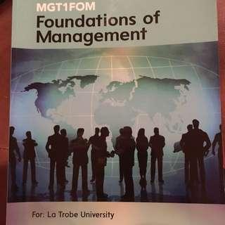 La Trobe Foundations Of Management Textbook