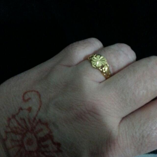 18ct gold plated rings