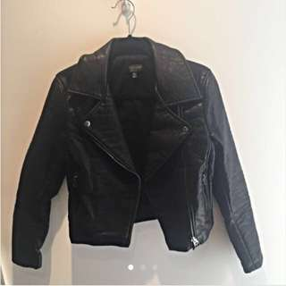 Topshop Black Pleather Jacket