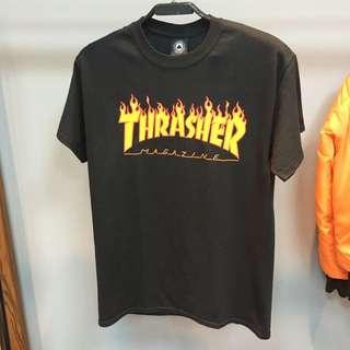 THRASHER  火焰T 日線 GD 街頭 滑板 經典
