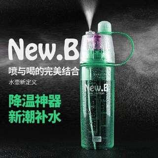 【正版授權 New. B 運動噴霧水瓶600ml】綠/藍/粉 三色