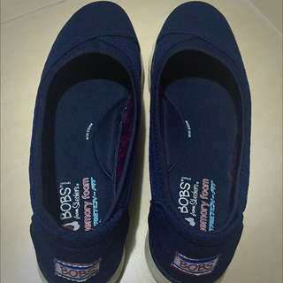 Skechers Bobs Navy Comfy Shoes