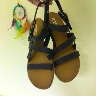 韓 深褐色羅馬涼鞋