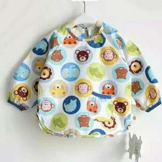 Baby Only✨寶寶幼稚園純棉防水吃飯衣 反穿衣