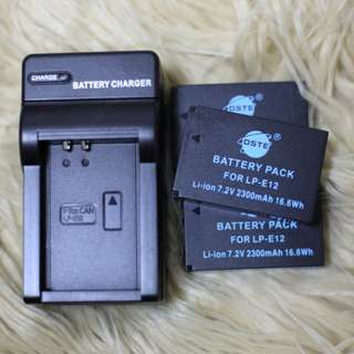 Canon EOS M/M2/100D 3rd party batteries and charger