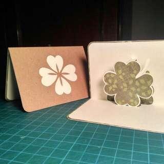 Clover Leaf • Good Luck • Pop-up Card