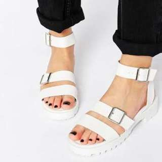 Size 7 (EU 38) White sandals from ASOS