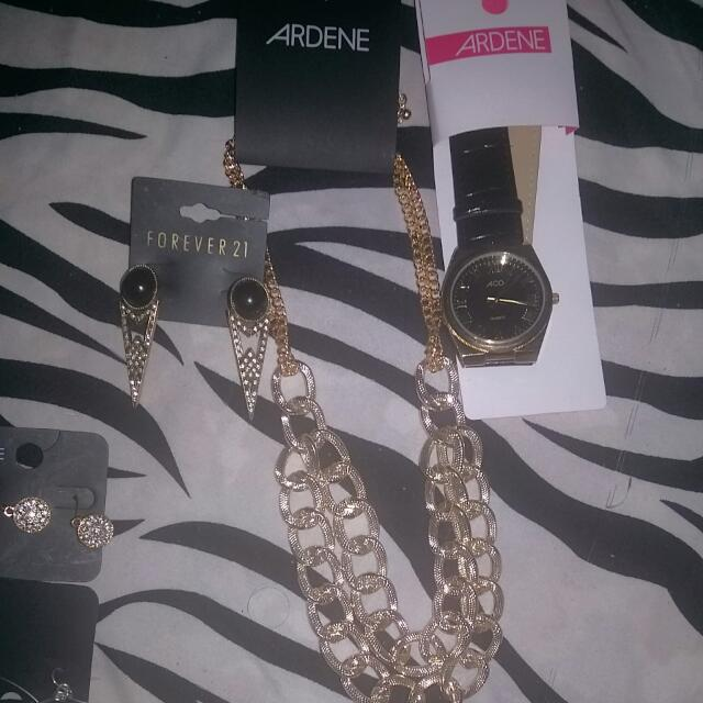 5 Earrings, 1 Belly Ring, 1 Watch, 1 Necklace  Bundle!