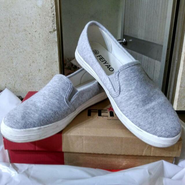 素灰色舒服百搭懶人鞋👍