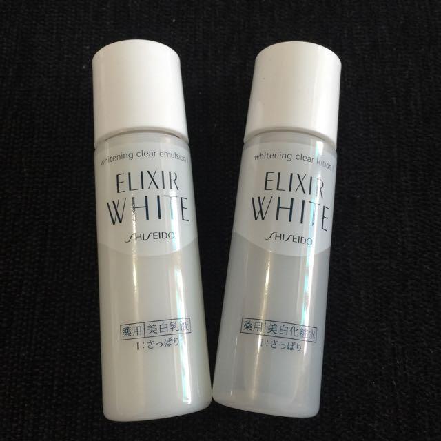 資生堂 淨白肌密化妝水30ml+乳液30ml