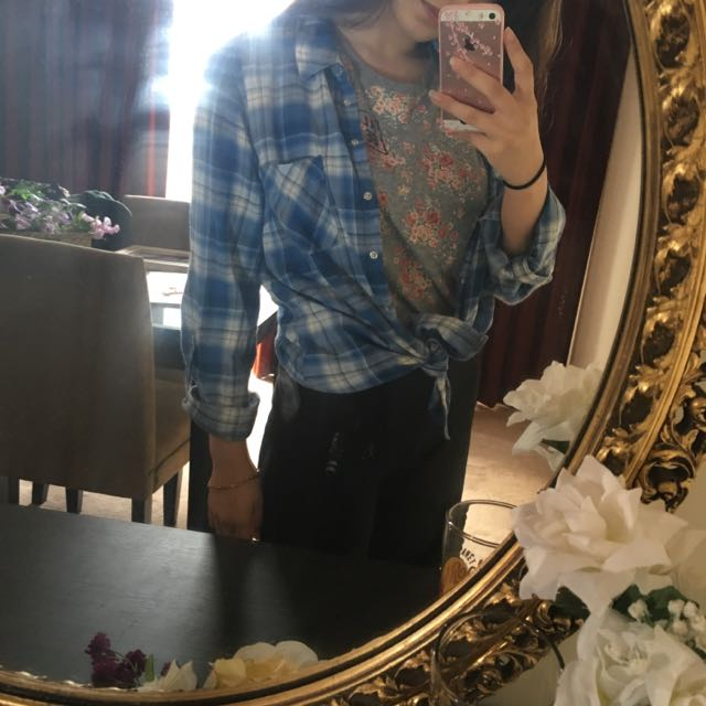 Just Jeans Blue Flannel