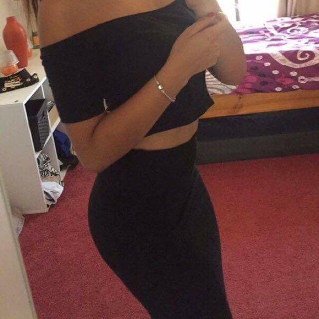 Black Mid Skirt