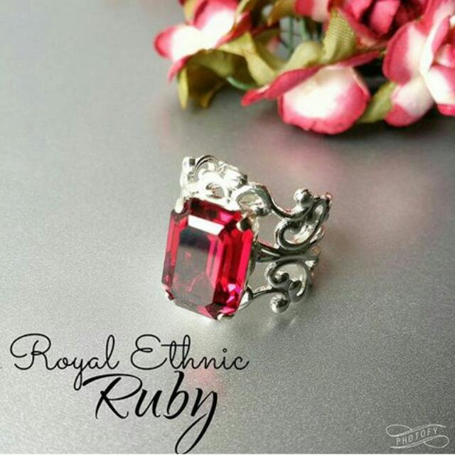 Cincin Royal Ethnic Ruby - @blinkbymariah
