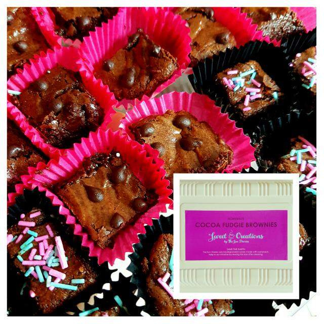 COCOA FUDGY BROWNIE BITES  Sweet Creations by The Sun Diaries