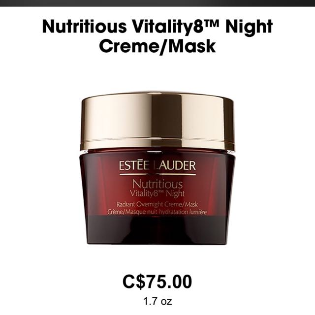 Estee Lauder Nutritious Vitality 8 Night Creme/Mask