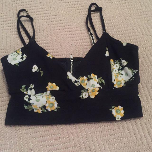 Floral Bralette/ Crop Top