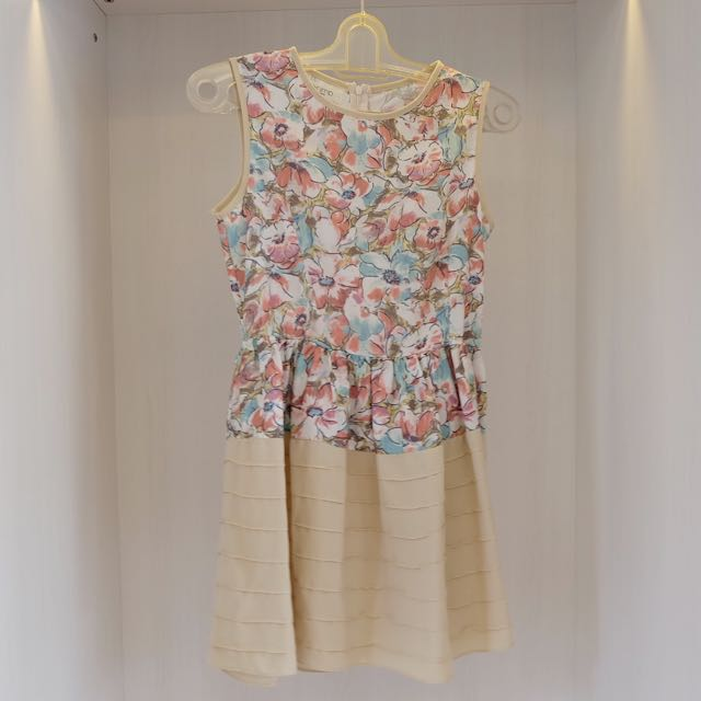 Floral Pastel Mini Dress