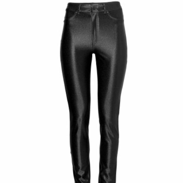 c2ebdbdb90c9b H&M Black Disco Pants, Women's Fashion on Carousell