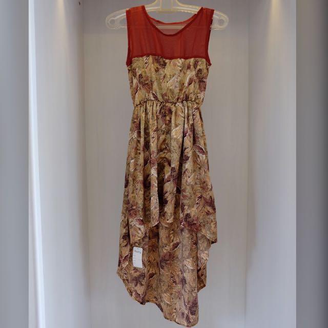 Leaves Pattern Summer Dress