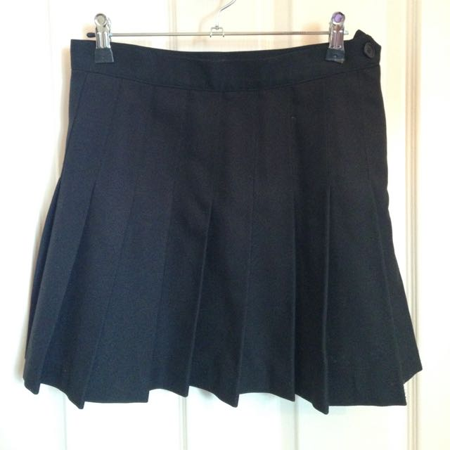 Medium American Apparel Black Tennis Skirt