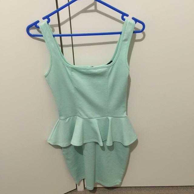 Mint Green Peplum Dress