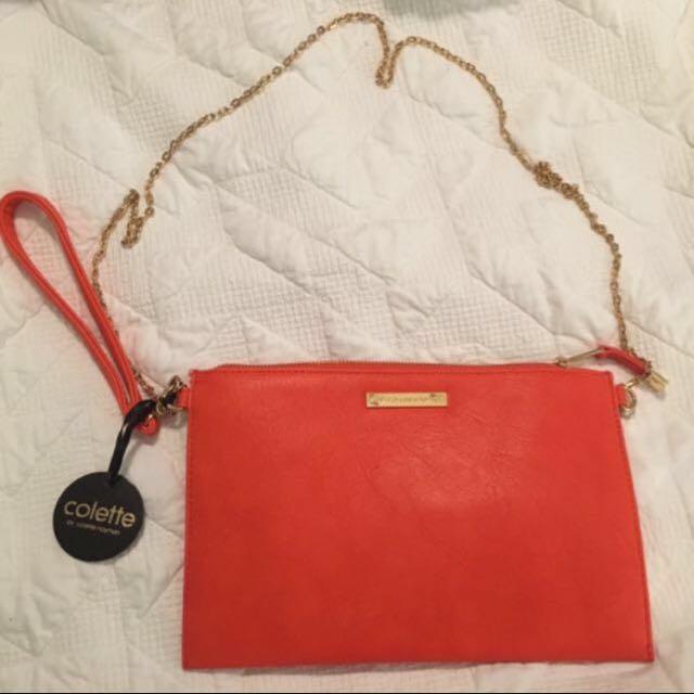 Orange/Red Colette By Colette Hayman Clutch/Crossbody