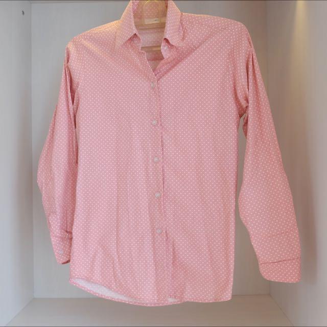 Pink Polkadot Shirt