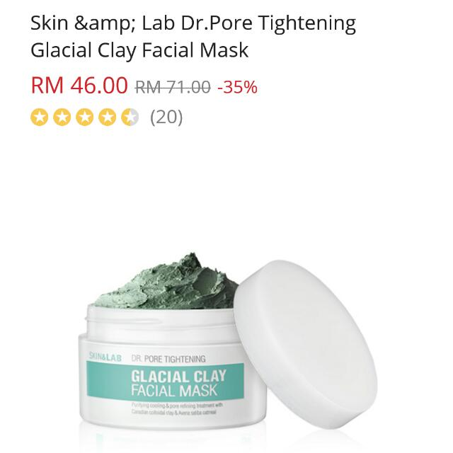 Skin & Lab Glacial Clay Facial Mask (Including Postage)