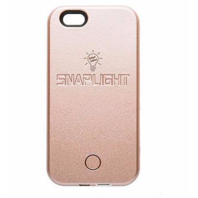 Snaplight LED selfie case for iPhone 6/6s PLUS with powerbank back up charging function in Rose Gold