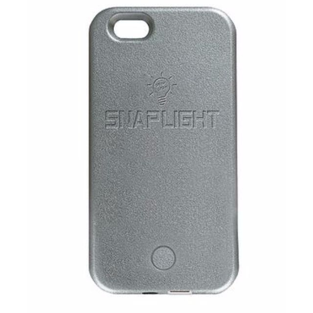 Snaplight LED selfie case for iPhone 6/6s PLUS with powerbank back up charging function in Silver