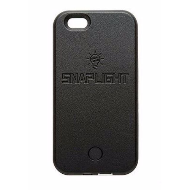 Snaplight LED selfie case for iPhone 6/6s with powerbank back up charging function in Black