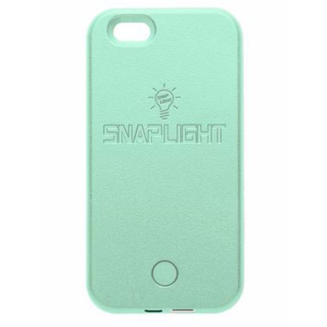 Snaplight LED selfie case for iPhone 6/6s with powerbank back up charging function in Mint