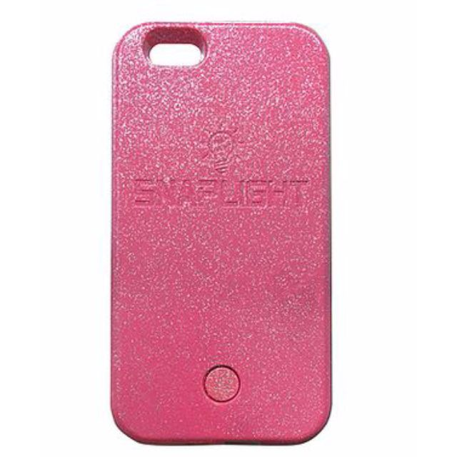 Snaplight LED selfie case for iPhone 6/6s with powerbank back up charging function in Pink