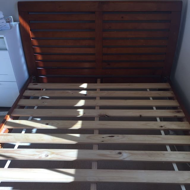 Timber Bed Frame With Slats