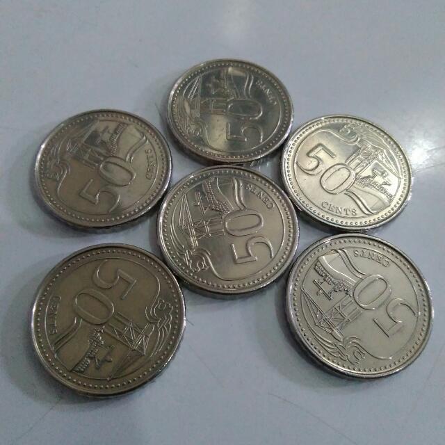 Gambar Uang Koin Singapura Uang Koin 50 Cent Singapore Serba Serbi Di Carousell