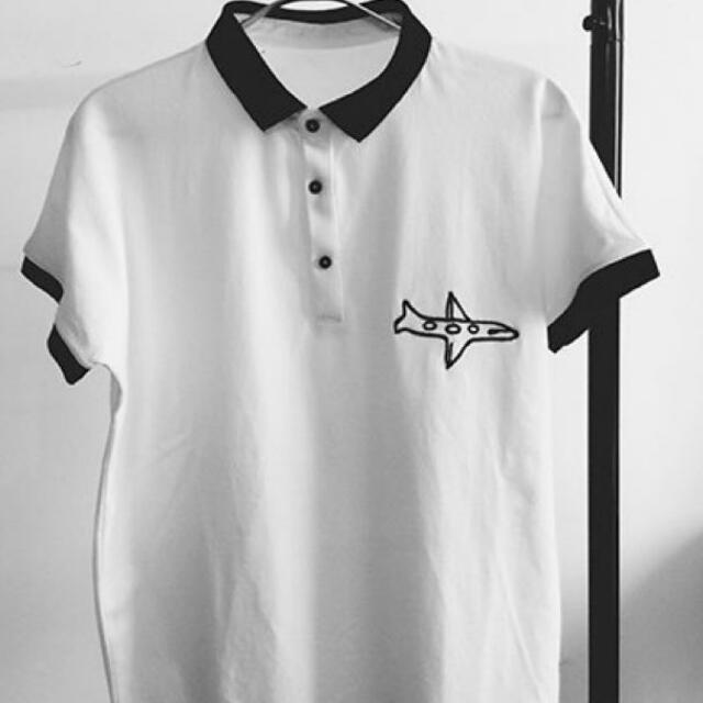 Ulzzang Airplane Polo Tee Women S Fashion Clothes Tops On Carousell