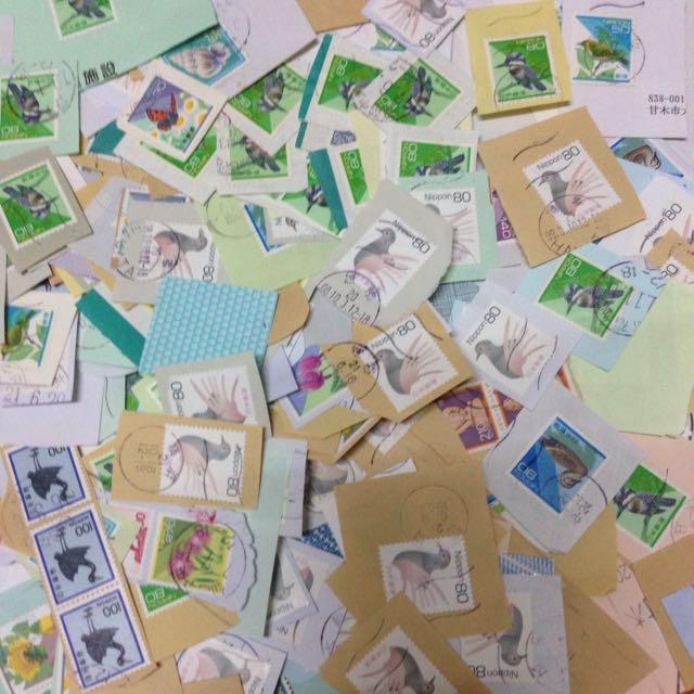 Used Stamps Japan Kiloware Bulk In Paper
